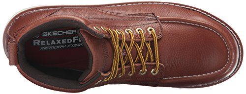 Skechers para el trabajo Men's Pettus Grafford Boot, Red Brown