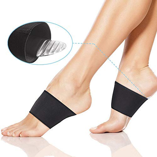 Doact 2 Pair Compression Arch Support Pads Kits Gel Plantar Fasciitis Shoes Insert Cushion For Foot Pain Relief Heel Spurs And Flat Feet For Women
