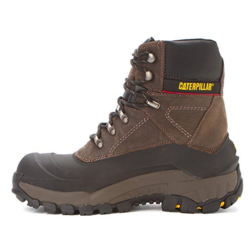 Caterpillar Mens Flexshell WP Steel Toe Work Boot Black Coffee mrToqwuye