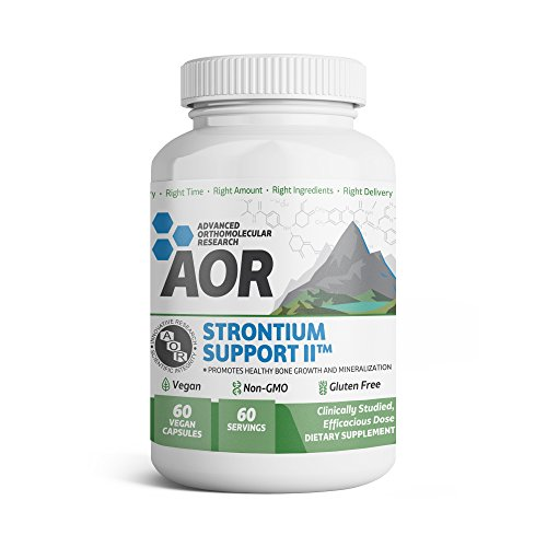 Advanced Orthomolecular Research - Strontium Support II, Mineral Support for a Healthy Skeletal System and Bone Growth, Vegan, Non-GMO, Gluten-Free, 60 Capsules