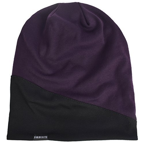 HISSHE Purple para Black de Punto Hombre Gorro 0wrfq0
