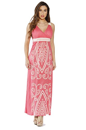 Just Love 4960-54-M Coral Women Dresses/Maxi Dress/Summer Dresses