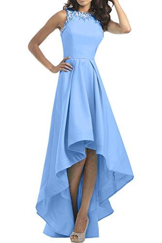 Festlich Himmel Ballkleider lo Steine Kleider Damen Charmant Abendkleider Partykleider Langes Hi mit Blau Blau Jugendweihe aIfqOBAwEx