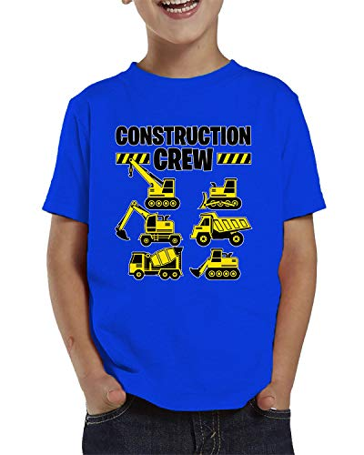 SpiritForged Apparel Construction Crew Toddler T-Shirt, Royal 5T/6T