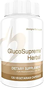 Designs for Health - GlucoSupreme Herbal - Blood Sugar Support Formula + Berberine HCL, 120 Capsules
