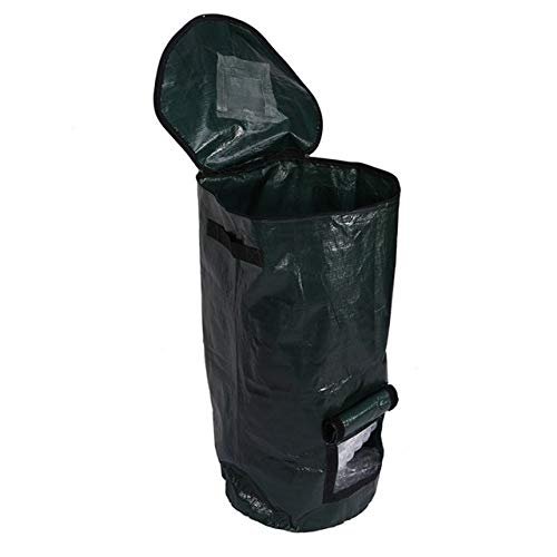 AloPW Yard Waste Bags 2 Sizes Organic Waste Kitchen Picnic Garden Organizer Compost Bag Environmental Fabric Home Planter Compost Bag Greenhouse