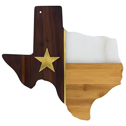 (Totally Bamboo Rock & Branch Series Republic of Texas State Shaped Serving Board, 14