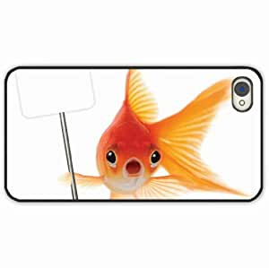 iPhone 4 4S Black Hardshell Case fish poster sign background Desin Images Protector Back Cover
