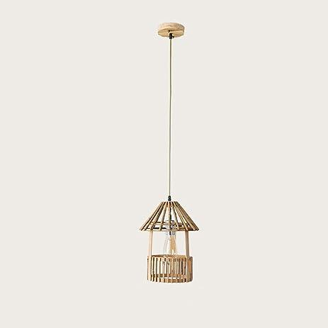 Creative bamboo chandelier gazebo style ceiling lights aisle ballet vintage retro pendant lamp