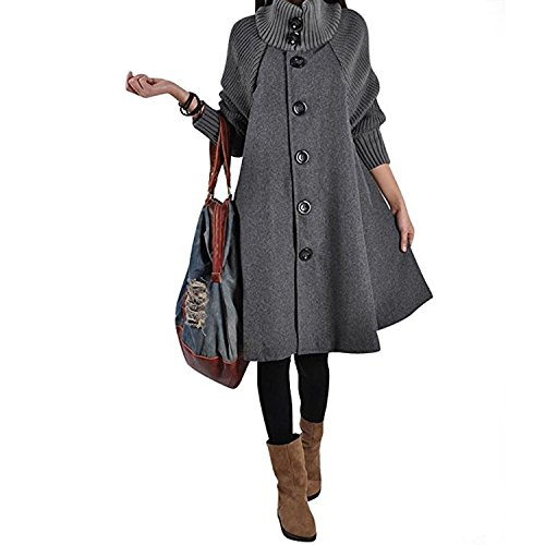 Over nbsp;Gilet Unie Long Robe Swing Oversize line Top Tunique Robe Taille A Grande Gris Casual Sweat Sweatshirt Pull Manteau Jumper Veste JLTPH Femme xgYfU0qg