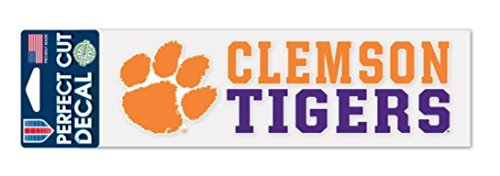 WinCraft NCAA Clemson University Tigers 3 x 10 inch Perfect Cut Decal