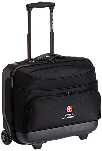 Swiss Military 15.4 inch 45 Ltrs Black Laptop Trolley Bag (LTB-2)