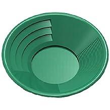 SE GP1014G14 14-Inch Green Gold Pan, Plastic Body, Dual Riffles