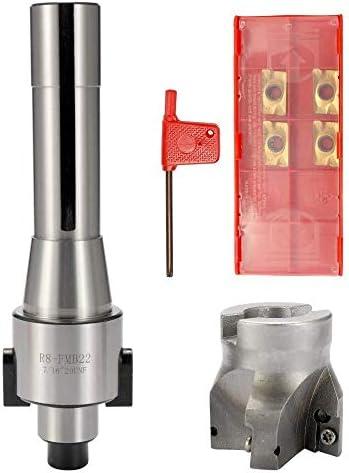 TLF-FF R8-FMB22 gerader Schaft Gesicht Shell Mühle Arbor + 400R Gesicht Schaftfräser + 4PCS Karbid-Einsätze Drehwerkzeug -