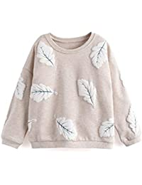 Toddler Girl Sweatshirts, Long Sleeve Tee Baby Long Sleeve Crewneck Cotton Pullover Infant Top