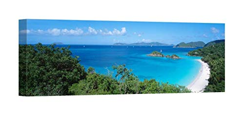 Easy Art Prints Panoramic Images's 'Trunk Bay Virgin Islands National Park St. John US Virgin Islands' Premium Canvas Art 36 x 12 -