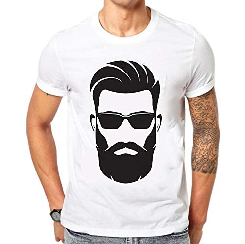 e0ecd92a5 grean Polyester Round/Crew Neck Men's White Printed T-Shirt: Trendy Beard  Men Print: Amazon.in: Clothing & Accessories