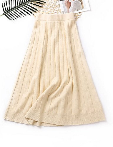 Mayihang Vestido Falda Faldas Cotidiana de Las Mujeres, Casual una ...