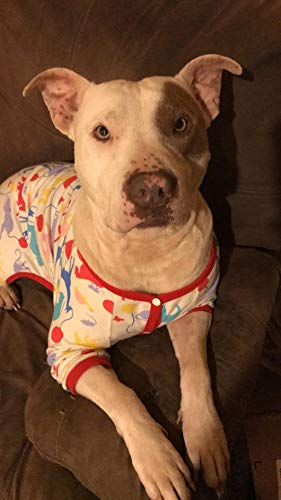 LovinPet Big Dog Pajamas, Large Dog Pjs Post Surgery Wear, 100% Cotton Dog Shirt for Pitbull Labrador Doberman Boxer Lightweight Pullover Dog Clothes(Large) by LovinPet (Image #5)