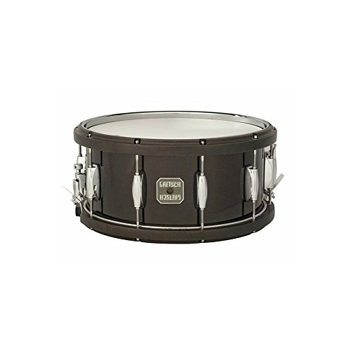 (Gretsch Drums S-6514WMH Black Drum 14x6.5 Contored Wood Hoop Snare Drum)