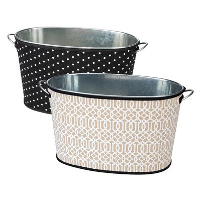 "Occasionally Made 15"" x 9"" x 9"" Trellis & Dots Party Tub ..."