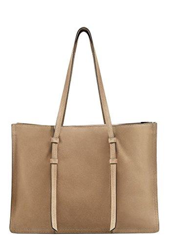Mango Women's Suede Shopper Bag, Sand, One Size