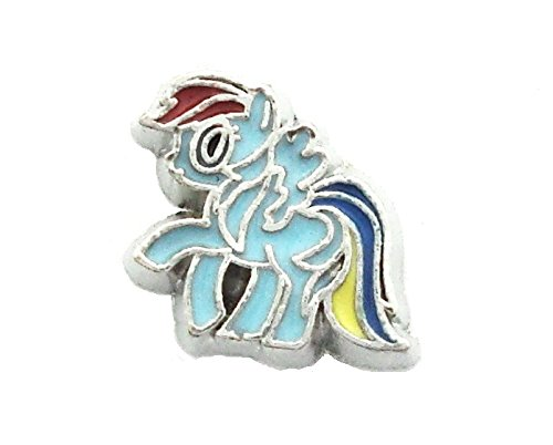 Cherityne Rainbow Dash Vector Pony Cartoon Character Floating Charm for Locket Pendants ()