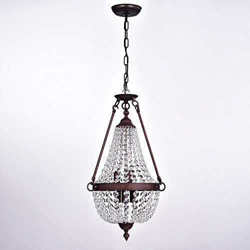 Warehouse of Tiffany Belle 6-Light Rustic Iron Crystal Pendant Lamp RL8266RI