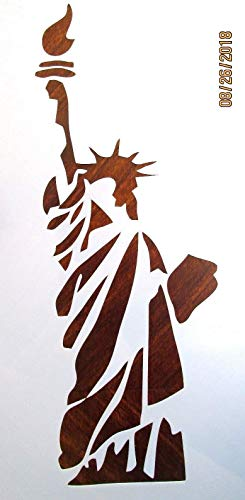 OutletBestSelling Reusable Sturdy Statue of Liberty Stencil/Template Reusable 10 mil ()