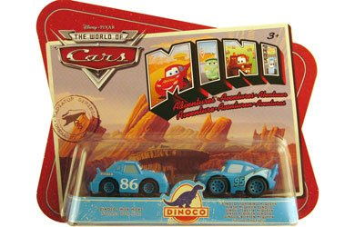 Disney / Pixar CARS Movie Toy Mini Adventures 2-Pack Dinoco Chick Hicks & Dinoco Lightning (Mini Adventures Two Packs)