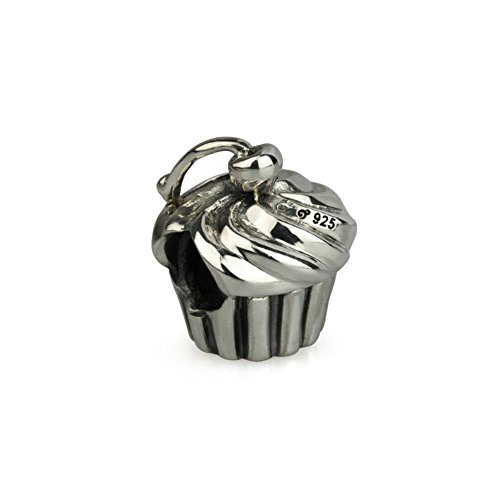 (Ohm Beads Sterling Silver Cupcake Bead Charm)