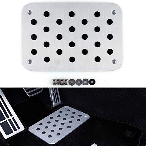 (Areyourshop Universal Car Auto Aluminum Floor Carpet Mat Pad Plate Pedal Foot Rest)