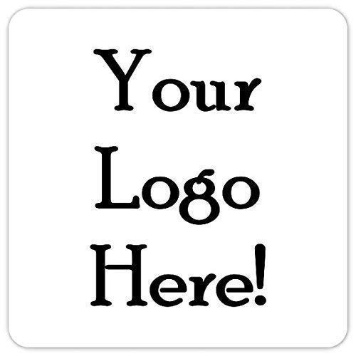Custom Logo Stickers, 2 Inch Square Stickers, Upload Your Logo or Image (60 Count) by Generic