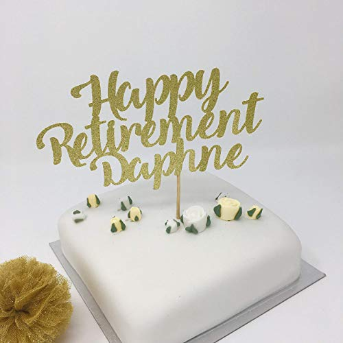 Amazon.com: Personalised Retirement Cake Topper with Name
