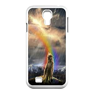 Custom New Cover Case for SamSung Galaxy S4 I9500, Rainbow Wolf Phone Case - HL-R670818