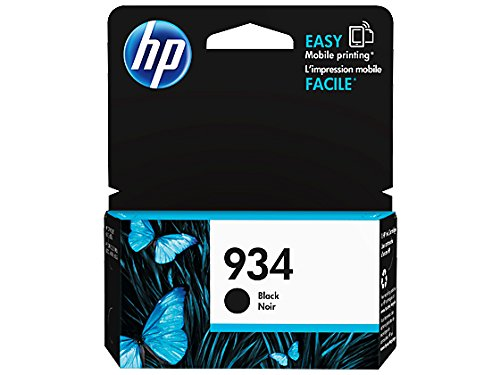 HP 934 Black Original Ink Cartridge (C2P19AN) for HP Officejet 6812 6815 HP Officejet Pro 6230 6830 6835 by HP