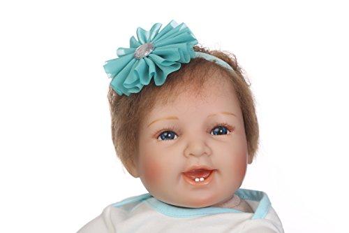 Npk Sorriso I Presenti Doll Bambola Neonato Bambino 22inch 55 Giocattolo Rinato Vestito Ragazza Bambini Della Baby Silicone Chilren Ragazza Bambini Di Della Giorni Blu Collezione Centimetri Raccolta Da dT6qBwyfSd