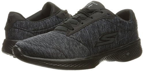 Black grey Walk Go glorify Heather 4 Zapatillas Mujer Skechers Para nq8C0Wxqa