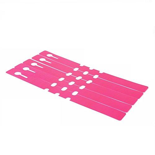 WSERE 100 Pieces Hanging Plant Identification Tags PVC Plastic Reusable Plants Labels, 7.87