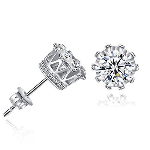sterling silver earrings_cubic zirconia earrings_girls earrings_stud earrings_hypoallergenic earrings