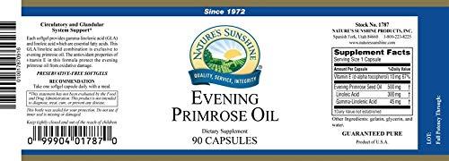 Evening Primrose Oil â€'' EFA Bones Glands Circulatory â€'' 90 Softgels