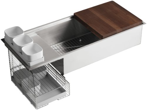 KOHLER K-3761-NA Stages 45-Inch Stainless Steel Kitchen Sink by Kohler (Image #4)