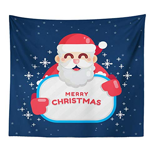 (PENATE Christmas Decor Tapestry Super Soft Hanging Seat Blanket Bedroom Office Home Decoration Art Throw Blanket Santa Claus Elk Bell Xmas Tree Gift for Baby Child)