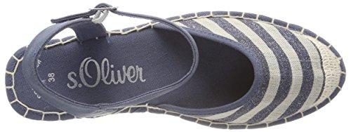 s.Oliver Women's 28351 Ankle Strap Sandals Blue (Navy Glit.str.) lsBdxjij
