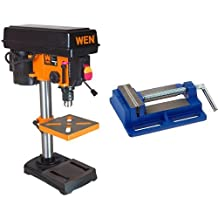 WEN 4208 8-Inch 5-Speed Drill Press & Irwin 226340 4-Inch Drill Press Vise