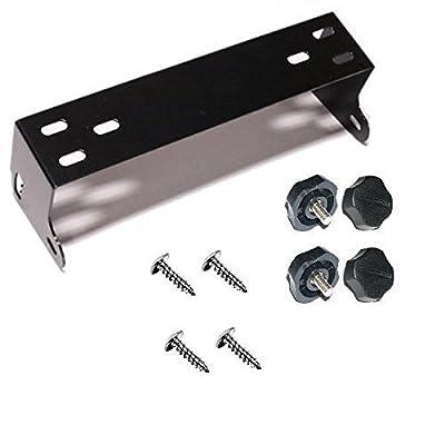Workman CB Radio Mount Bracket kit for Cobra 148, Uniden Grant, Galaxy, Connex (Black): Automotive