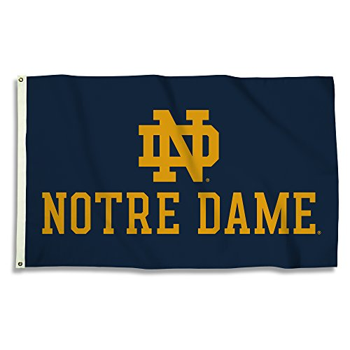 Notre Dame Flag (NCAA Notre Dame Fighting Irish 3' x 5' Flag with Grommets,)