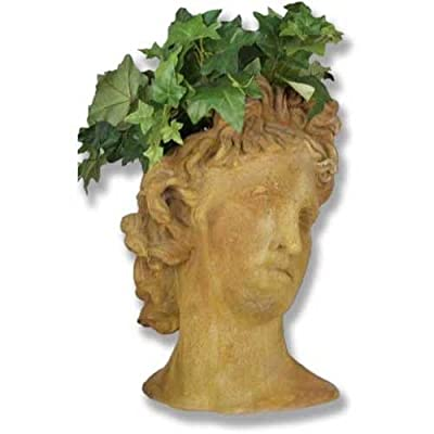 XoticBrands OSFS7381 Apollo Head Planter 17-Greek & Roman Busts