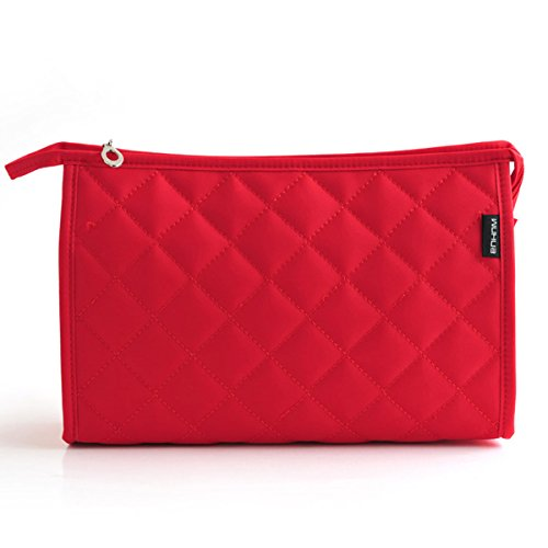 (LittleStar Cosmetics Pouch Travel Case Make up Bags for Lady Accessory Organizer (Red))