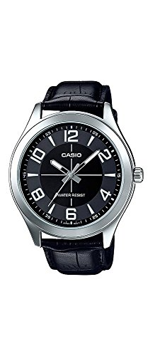 Casio-MTP-VX01L-1B-Mens-Standard-Leather-Band-Big-Case-Black-Dial-Watch